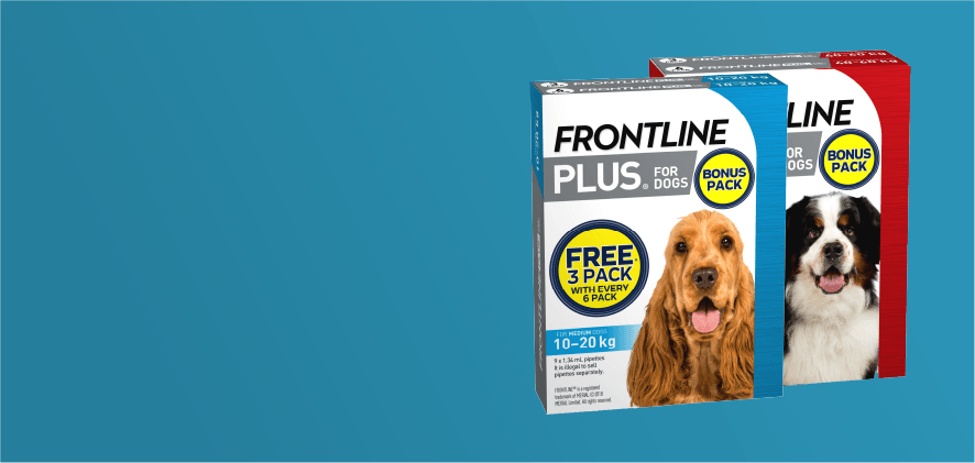 3 free doses Frontline Plus 6 packs