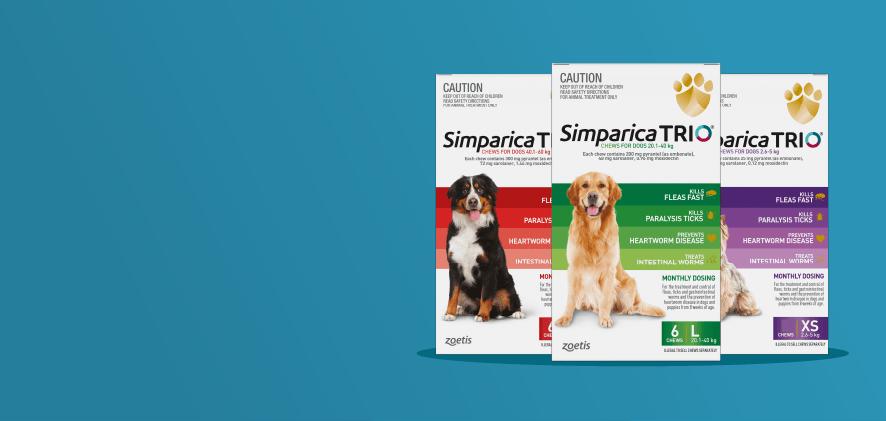 2 free doses Simparica Trio 6 packs