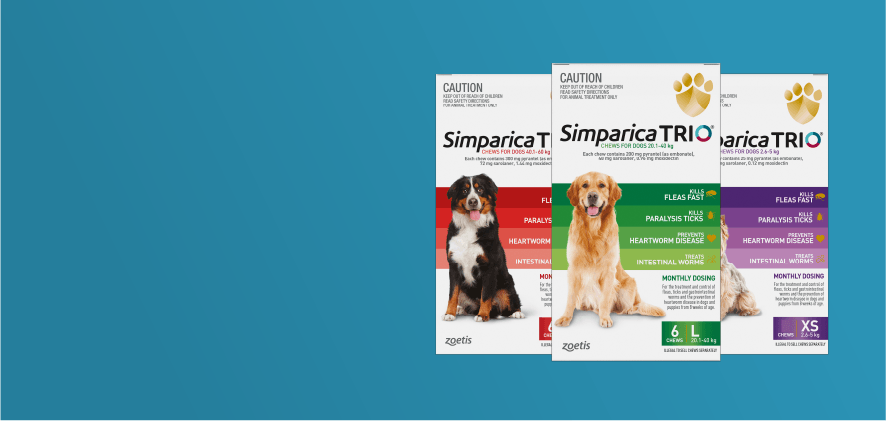 1 free doses Simparica Trio 6 packs