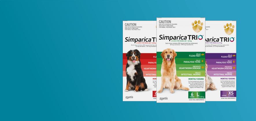 1 free dose Simparica Trio 6 packs