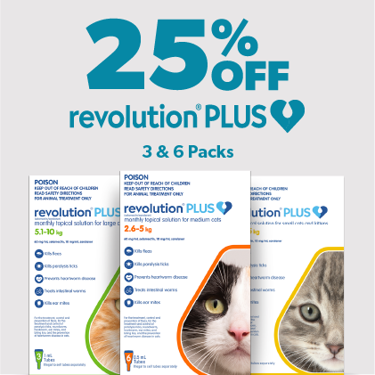 25% Off Revolution Plus 3 & 6 packs