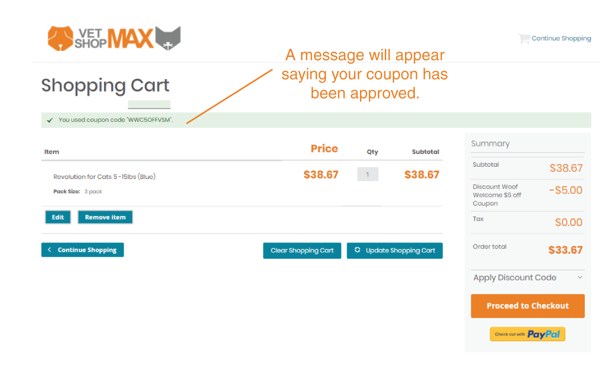 How to use a coupon code